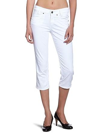 vente chaude en ligne c7d73 7ce9e Mexx Pantacourt - Femme - Blanc (100) - Taille fournisseur ...