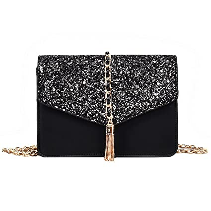 fd932bab273d Amazon.com: Heidi Women's Glitter Charming Crossbody Handbags Flap ...