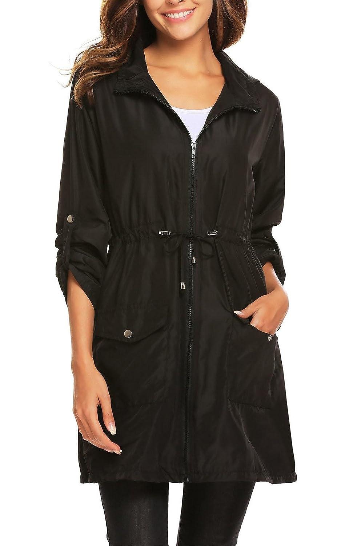 Women Waterproof Windbreaker, Jingjing1 Outdoor Lightweight Hooded Rain Jacket