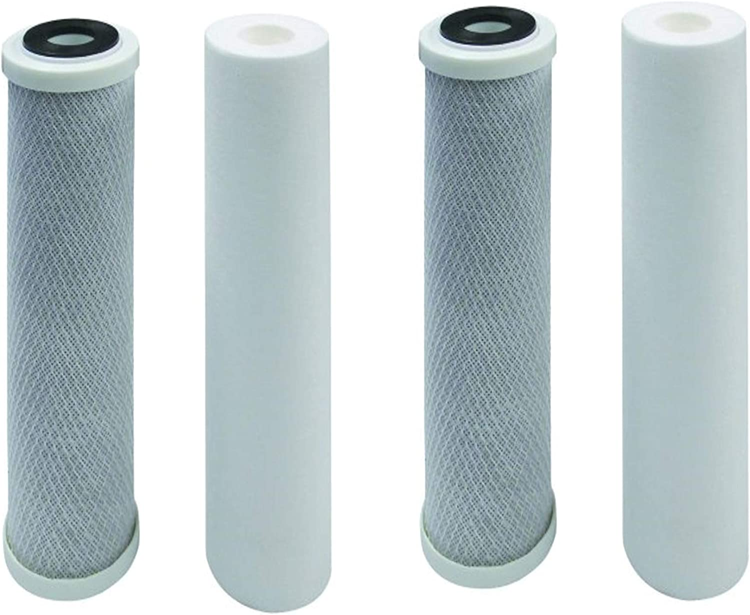 4-Pack Replacement Filter Kit for Watts WP-2 LCV RO System Includes Carbon Block Filter /& PP Sediment Filter