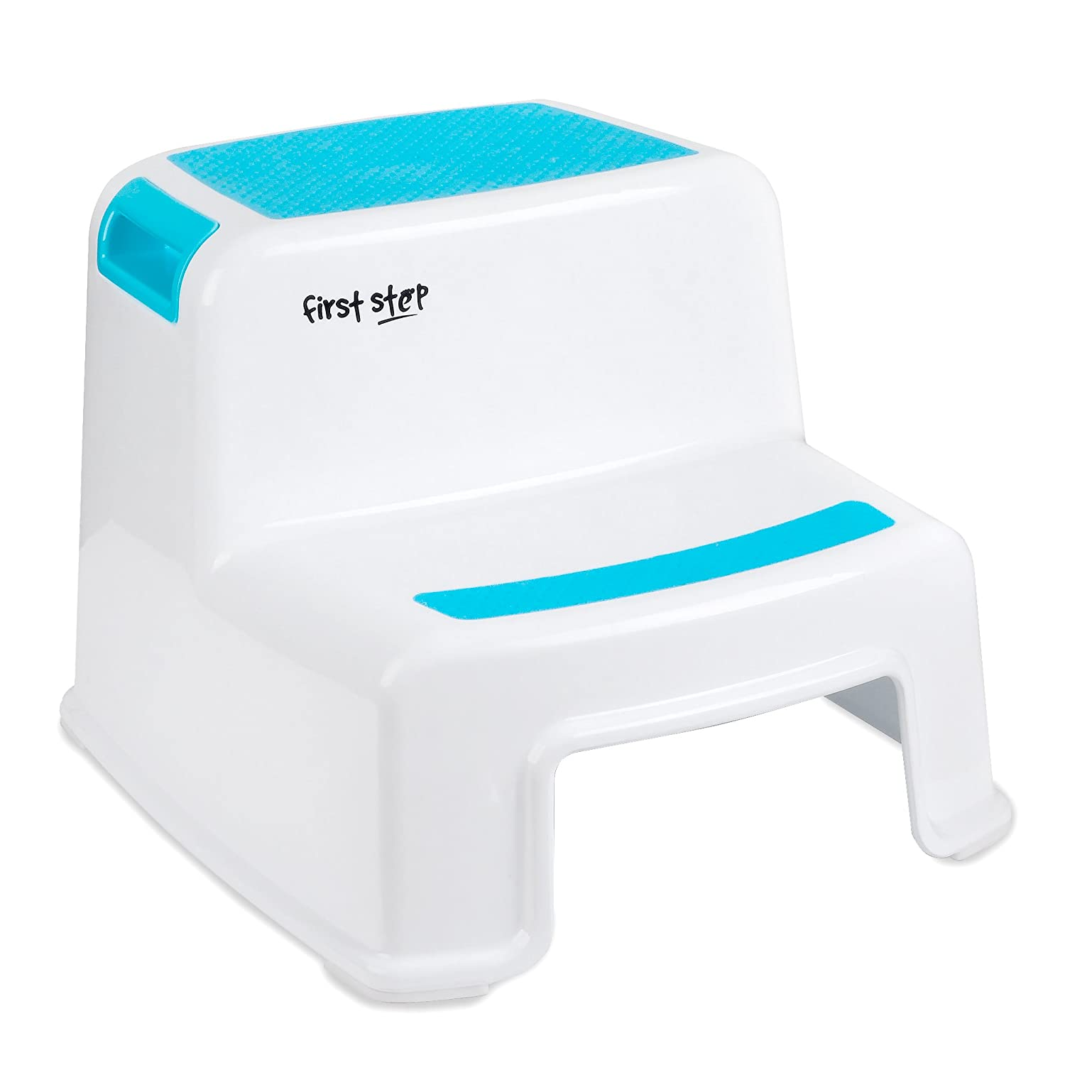 First Step Dual Height Step Stool - Non Slip Step Stool for Kids - Step Stool for Toddler's Potty Training - Portable Step Stool with Handle - Kid's Modern Stool by First Step Baby Step Up
