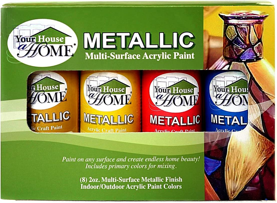 Your House A Home Metallic Multi-Surface Acrylic Paint Set