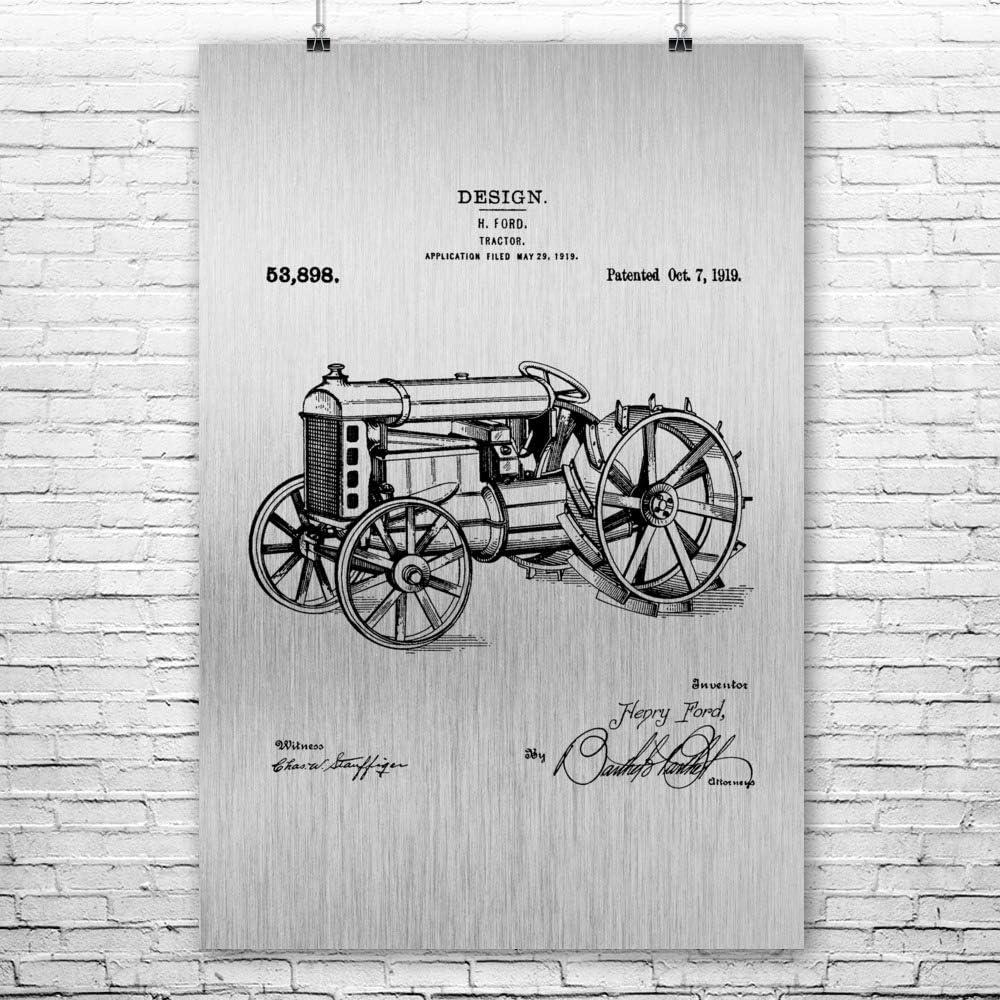 Ford Tractor Poster Prints Farm Farming Tractor Patent Farmer Gift Farm Art