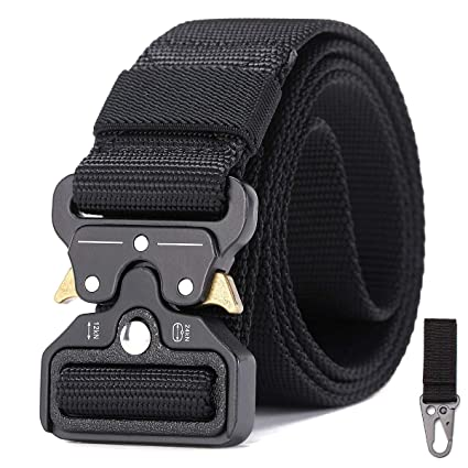 Refire Gear Military Equipment Army Tactical Belt Men Thicken Metal Buckle Sturdy Nylon Belt Knock Off Swat Combat Belts 4.5cm Apparel Accessories
