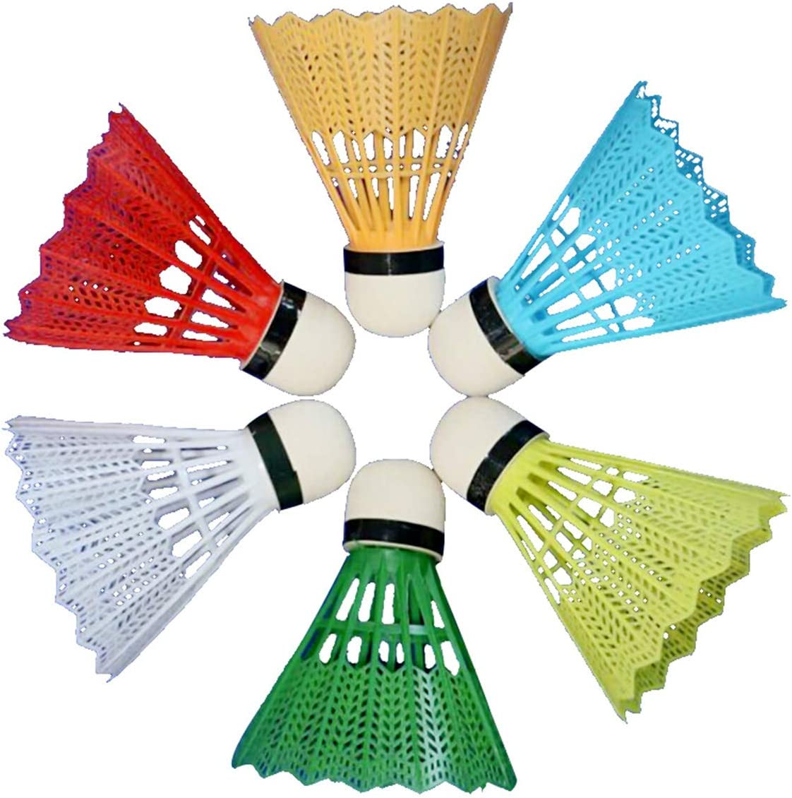 OhhGo 12 piezas pl/ástico de b/ádminton colorido ShuttleCocks para deportes al aire libre juego de fitness surtidos