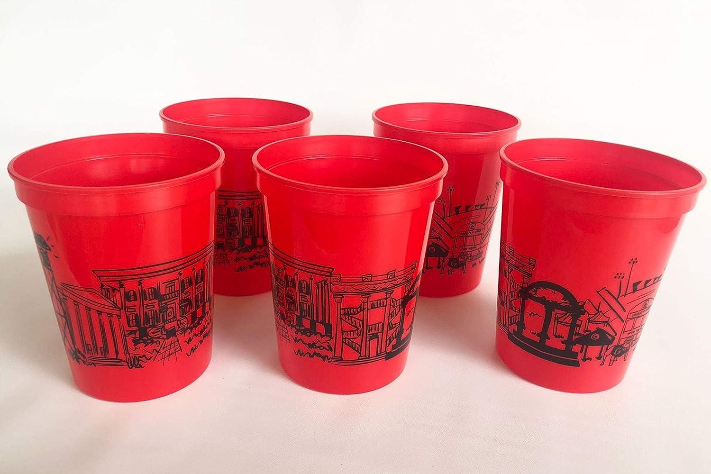 University of Georgia Bulldogs Campus Skyline Plastic Stadium Cup 10 Pack
