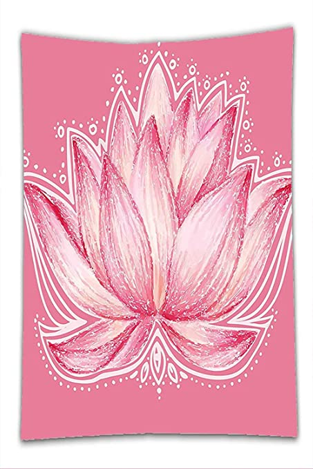 Amazoncom Nalahome Fleece Throw Blanket Floral Lotus Flower