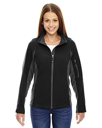 0a4c2128a North End Generate Ladies Textured Fleece Jacket