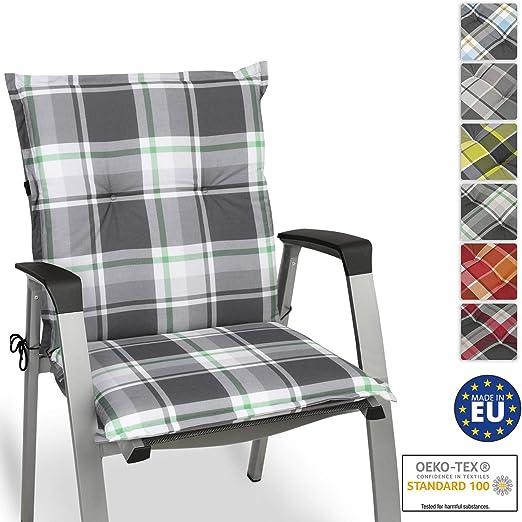 Beautissu Cojín para sillas de Exterior y jardín con Respaldo bajo ...