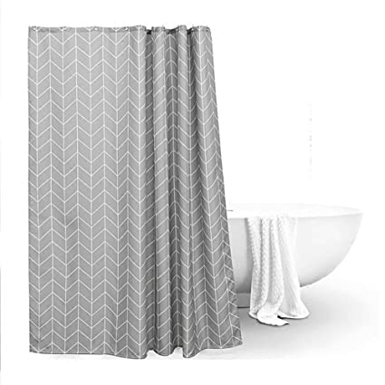Shower Curtains Restroom Curtain Cut Off Take A Waterproof Mould Proof Thicken Sun B