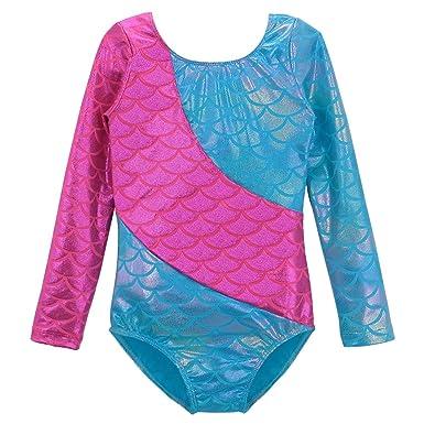 c53cd58d8e83 DAXIANG Dance Leotards for Girls Dreamlike Jellyfish Stitching Gymnastics  Unitard 2-11 Years (100