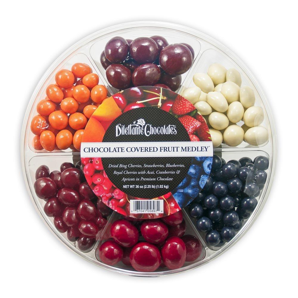 Chocolate Fruit Medley Wheel - 36oz - Dilettante by Dilettante