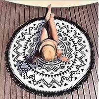 Sungpunet Arc-en-7 Chakra Mandala Tapisserie Tapis de Boh/ême Couverture Serviette Yoga /ét/é Plage