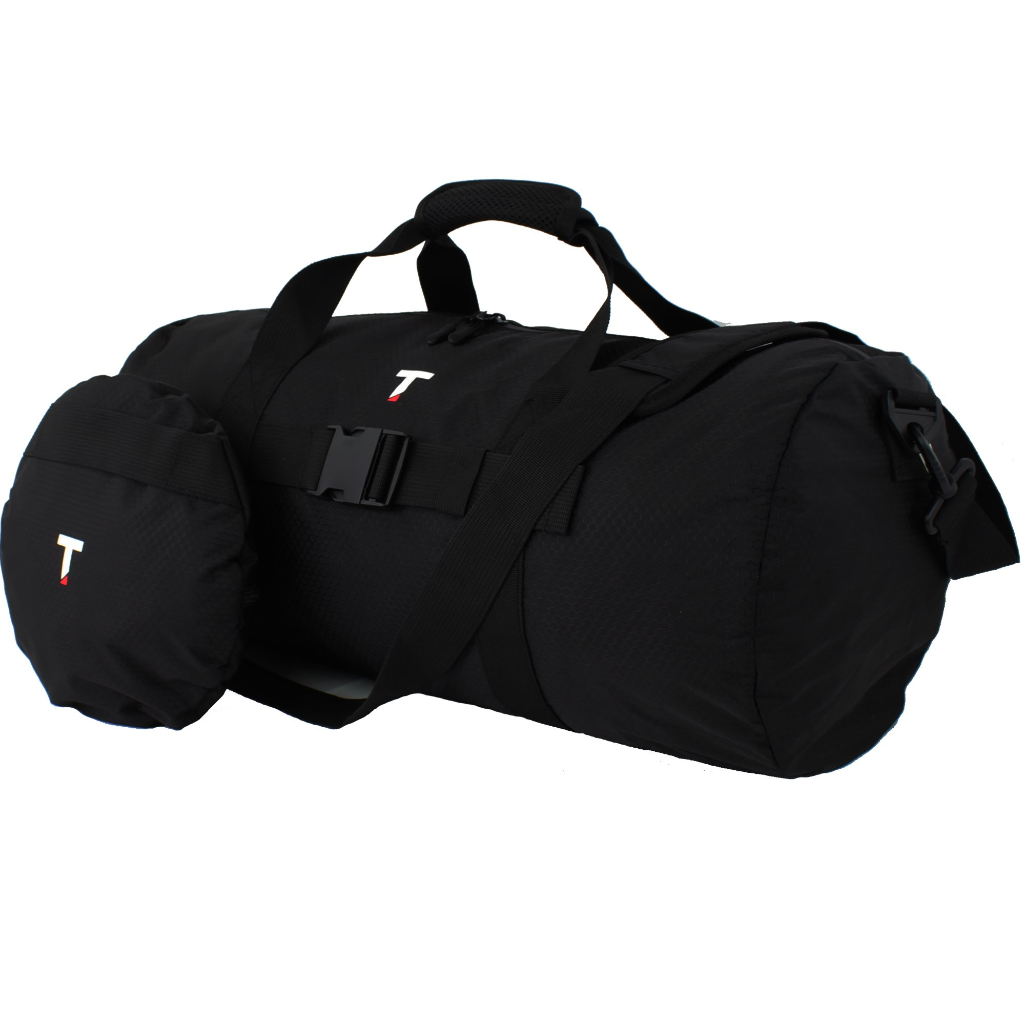 Taskin Disq - Foldable Small Travel Duffel (30L), Water & Odor Resistant & All Metal Trims