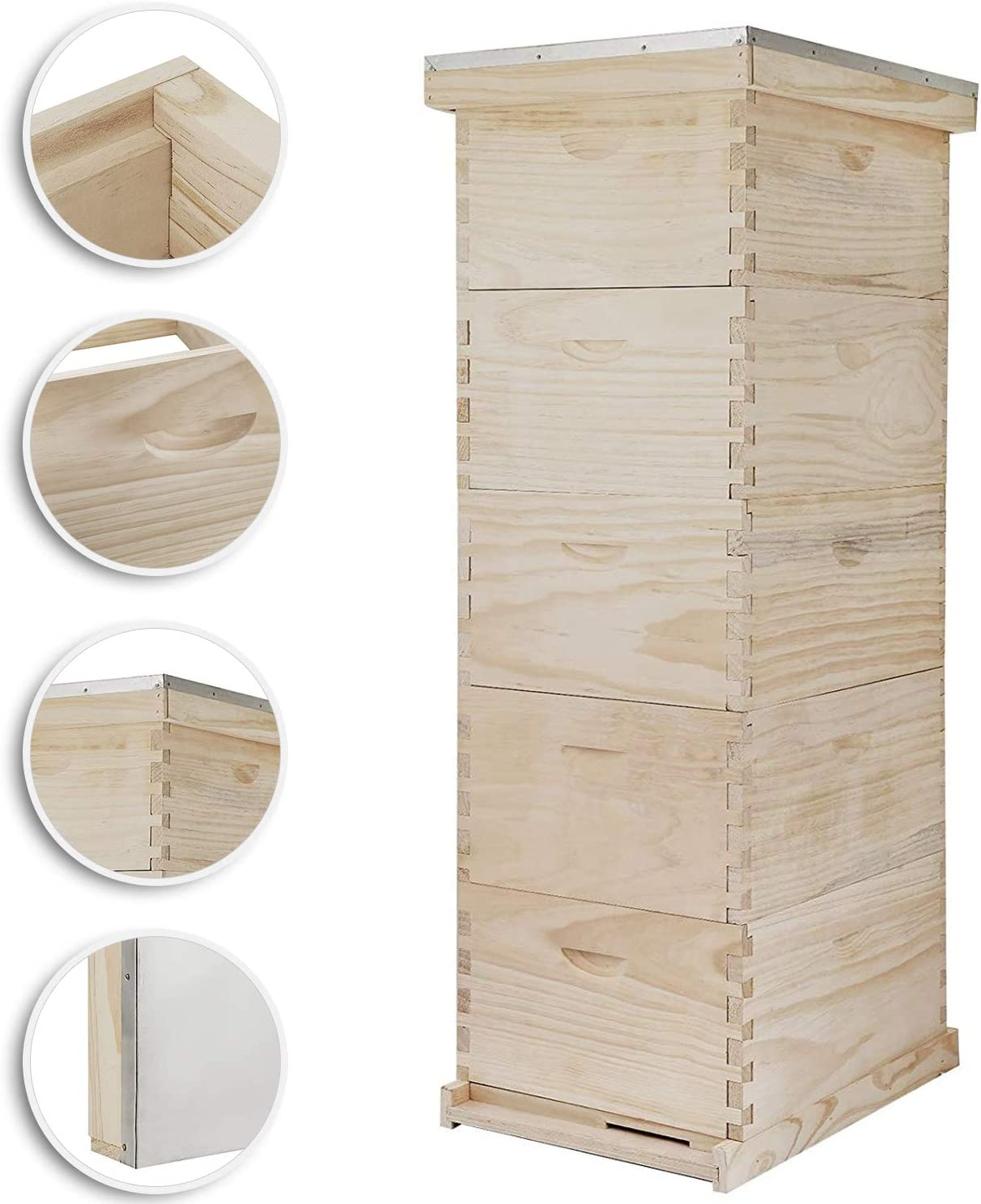 10-Frame size Beehive Frames //Bee Hive Frame// Bee House for Beekeeping 5 Boxes