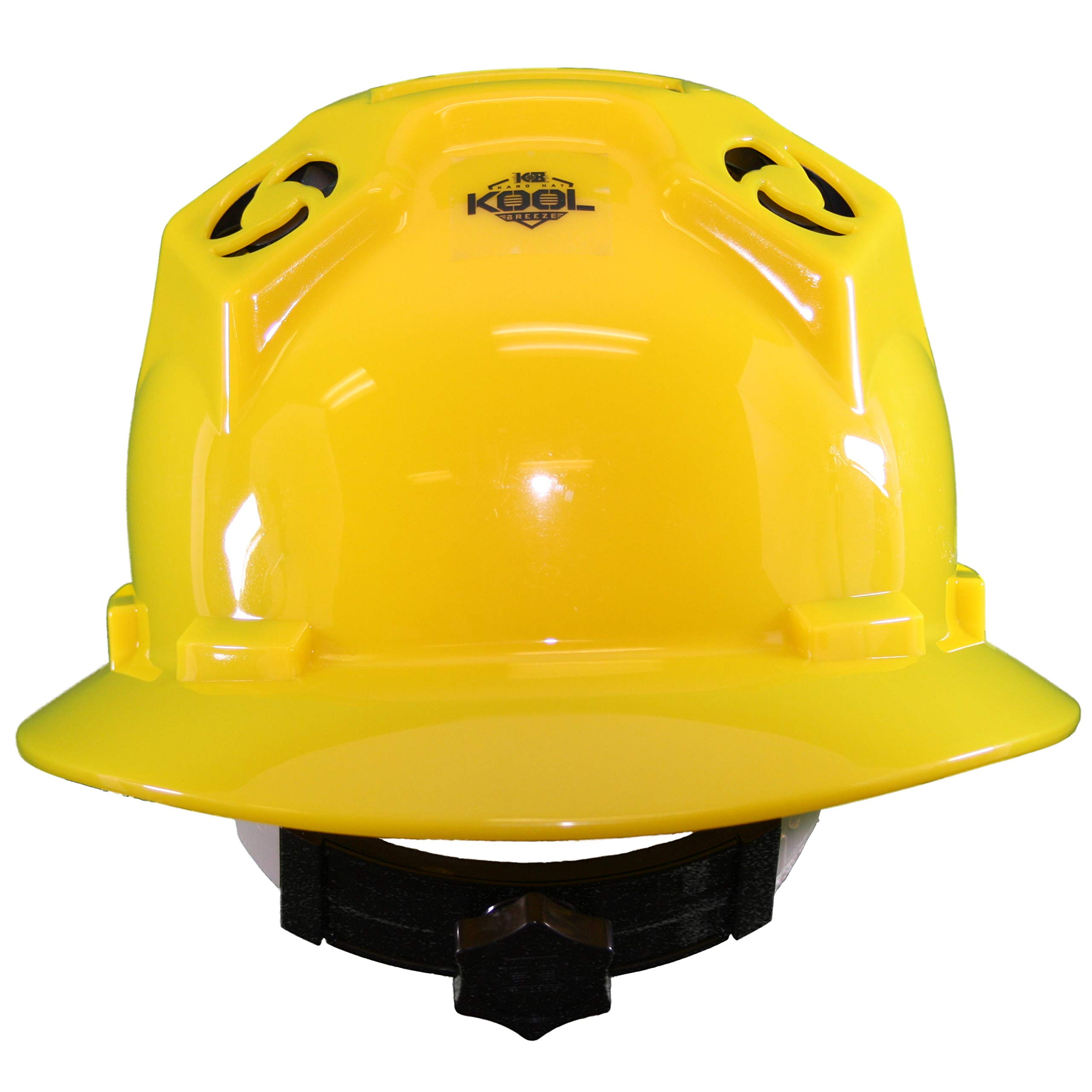 Hard Hat Head Protection Kool Breeze Solar Helmet With Rechargeable Battery and Adjustable Ratchet Suspension (Yellow) by Kool Breeze Solar Hats (Image #3)