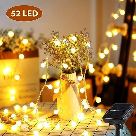 Elektrische Weihnachtsbeleuchtung Garten.Solar Lichterkette Mr Twinklelight 6 7m 52er Led Lichterkette Außen 8 Lichtermodi Ip44 Ideal Für Weihnachtsbeleuchtung Außen Und Innen Deko