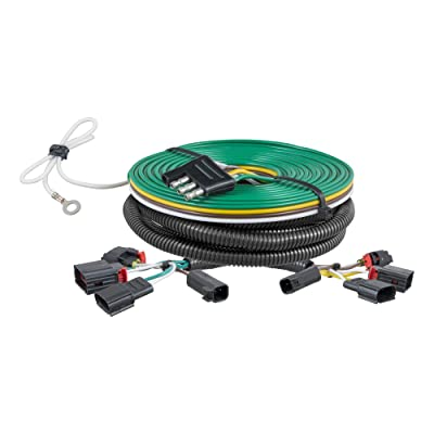 CURT 58907 Custom Towed-Vehicle RV Wiring Harness for Dinghy Towing Select Jeep Grand Cherokee,Black: Automotive