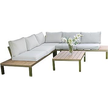 Superior Innisfree 4 Seater Garden Corner Lounge Set: 166cm (L) X 83cm (