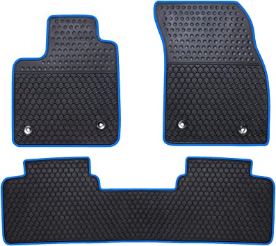 Ucaskin Car Floor Mats Custom Fit for Ford Edge 2015 2016 2017 2018 2019 Odorless Washable Rubber Foot Carpet Heavy Duty Anti-Slip All Weather Protection Car Floor Liner-Red