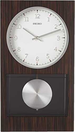 Seiko Modern Dark Wooden Wall Clock