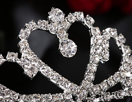 Amazon.com: Lovelyshop - Tiara de diamantes de imitación con ...