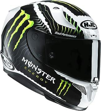 HJC casco de moto Rpha 11 Monster Military, negro/rojo, talla XS