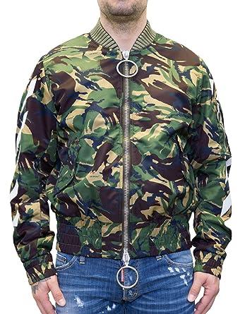 86a08f6a4cd3b Off-White - Arrows Logo Print - Bomber Jacket - camo – Camouflage (XS