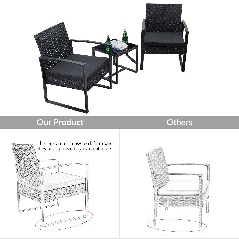 Amazon.com: Flamaker - Juego de muebles de patio: Jardín y ...