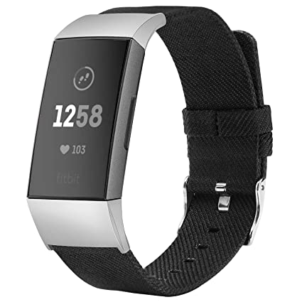 TOYOUTHS Compatible with Fitbit Charge 3 Bands Charge 3 SE Bands for Women  Rose Gold Replacement Strap Sports Band Accessories Wristband for Men Small