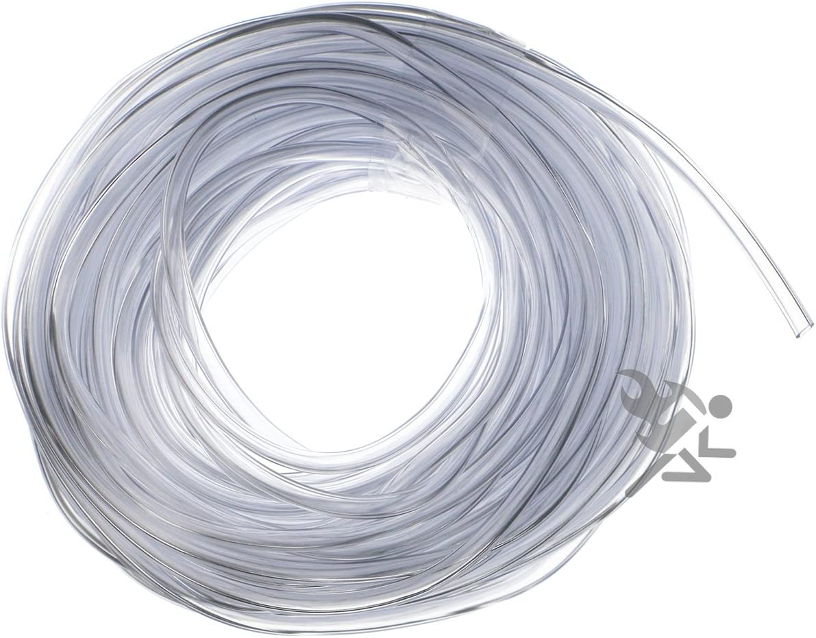 Larger Bass Size Clear Vinyl Tubing for Fishing Lure Treble Hook Guard Cover Protectors Feet OnFireGuy 3//32 x 25