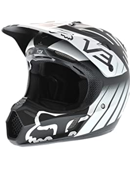 Fox casco V3 Savant blanco y negro