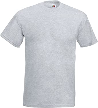 Fruit of the Loom - Camiseta - para hombre gris Large: Amazon.es: Ropa y accesorios
