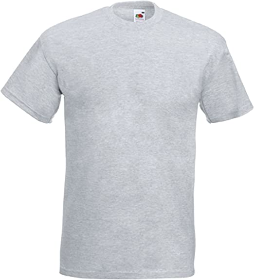 Fruit of the Loom - Camiseta - para hombre gris Large: Amazon.es: Ropa y accesorios