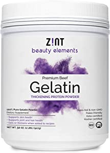 Zint Beef Gelatin Powder (32 Ounce): Unflavored, Keto-Certified, Paleo-Friendly Protein for Baking & Thickening