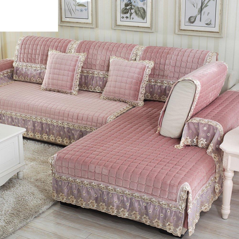 vendita con alto sconto Dongdong Set Divano Asciugamani Semplice Semplice Semplice Tappetino Moderno Cuscino Invernale per divani Combinazione con Le sedie-C 100x160cm(39x63inch)  design unico