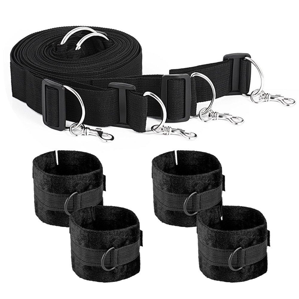 Bedroom Rope Straps, Adjustable Size Fit Almost Any Size Mattress and All People, Black by Tatambetok