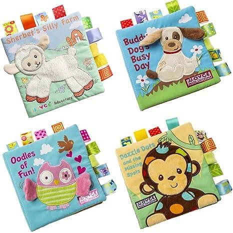 Shager Jeux Educatifs Hibou D Animaux Puzzle Tissu Doux Livre Pour Bebe Activite Pli Livres Main Education Jouets Pour 3 Mois A 3 Ans Interactive