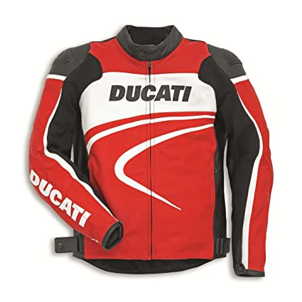 Amazon.com: Ducati Dainese Sport C2 Leather Jacket Red ...