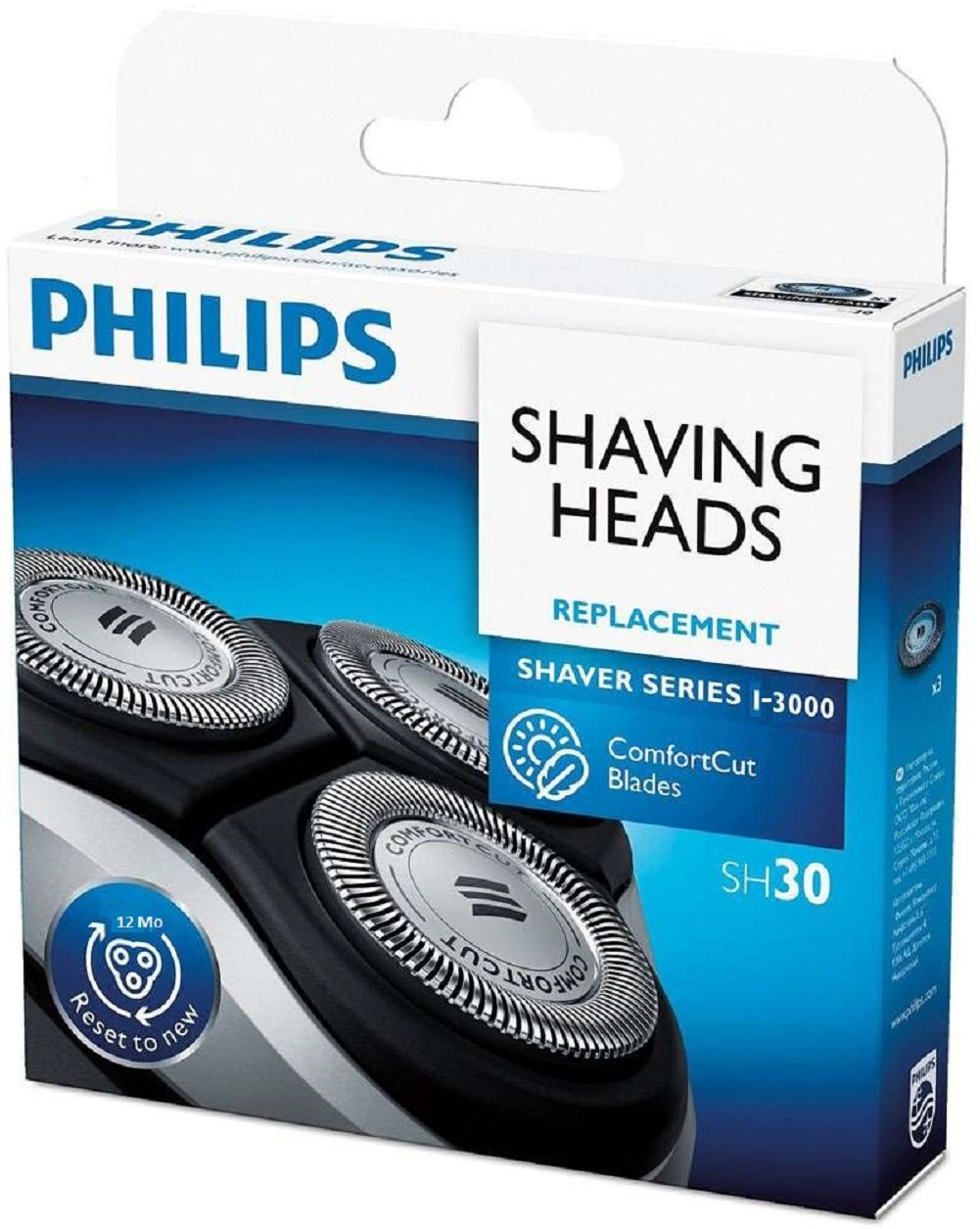 Philips Replacement Shaving Heads SH30 For series 1000-3000 (count 3)