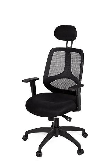 Bürostuhl ergonomisch höhenverstellbar  AMSTYLE Bürostuhl FLORENZ 2 Bezug Stoff Schwarz Schreibtischstuhl ...