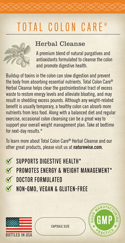 Amazon.com: NatureWise Total Colon Care Suplemento ...