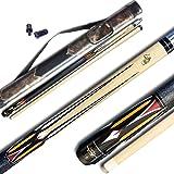 "Tai ba cues Pool cue Stick, 13mm Multilayer Leather Tip, 58"", Linen Wrap, Hardwood Canadian Maple Professional Billiard…"