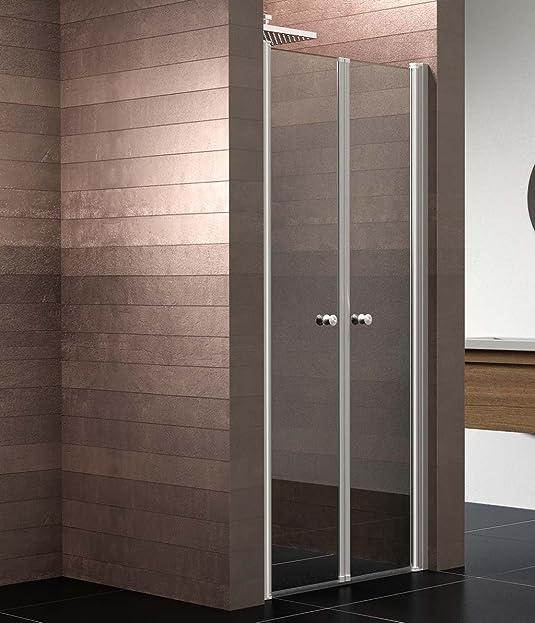 schulte duschkabine pendeltr nische 90x200 cm 6mm glas mit glasversiegelung mincio 1 stck alunatur - Dusche Pendeltur Nische