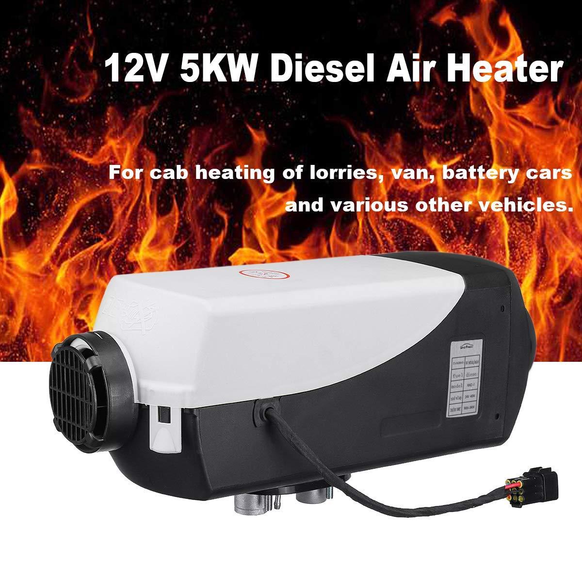 ETE ETMATE 5KW 12V Diesel Chauffage de Voiture Diesel Chauffage de Voiture Chauffage sur Pied Air Chauffage Voiture Chauffage Voiture Chauffage avec t/él/écommande