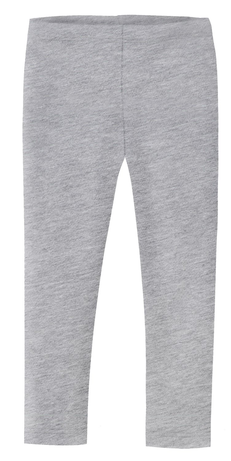 City Threads Girls' Leggings 100% Cotton For School or Play Perfect For Sensitive Skin or SPD Sensory Friendly Clothing, Heather Gray, 7