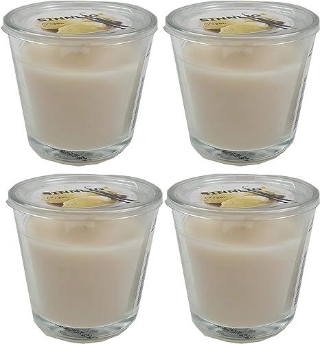 4 x ikea sinnlig candela profumata in vetro Sweet Vanillanaturale