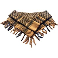 MiaoMa Thicker outdoors 100% Cotton Military Shemagh Tactical Desert Keffiyeh Scarf Wrap.110x110cm