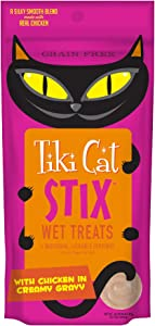 Tiki Cat Stix Wet Treats, Grain Free Lickable Silky Smooth Blend in Creamy Gravy, Topper or Treat