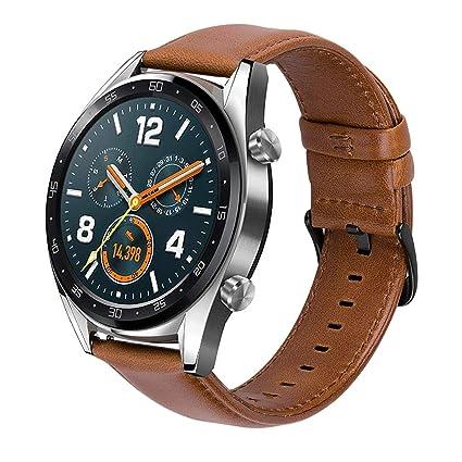 Gear s3 Correa Cuero 22mm para Reloj Samsung Galaxy Watch 46mm/ Gear S3 Frontier/